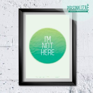 Poster I'am not here